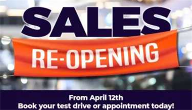 Re-opening of the Dealership
